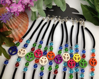 Wholesale Childrens Bracelet Wholesalers - 12PCS Mixed Colour Peace logo Velvet Childrens Bracelets #21614
