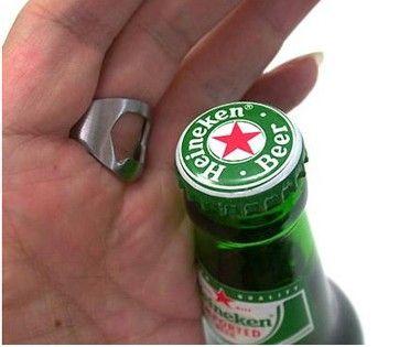 Creativo Mini portátil 3 tamaños Cerveza Dedo Abrebotellas de Acero Inoxidable Dedo de Metal Pulgar RING Bar pub Herramienta