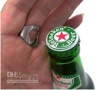 Kreative Mini portable 3 Größen Bier Finger Flaschenöffner Edelstahl Metall Finger Daumen RING Bar Pub Tool