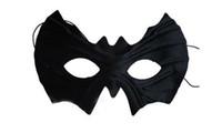 batman mardi gras al por mayor-Negro Media Caras Máscara de Batman Máscara de ojo Mardi Gras Masquerade Disfraz de Halloween Fiesta MÁSCARAS Envío gratis