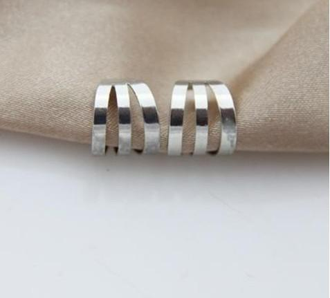 best selling Silver Color Punk Earrings Fashion Unisex Ear Cuff Copper Material Free Shipping LM-C107
