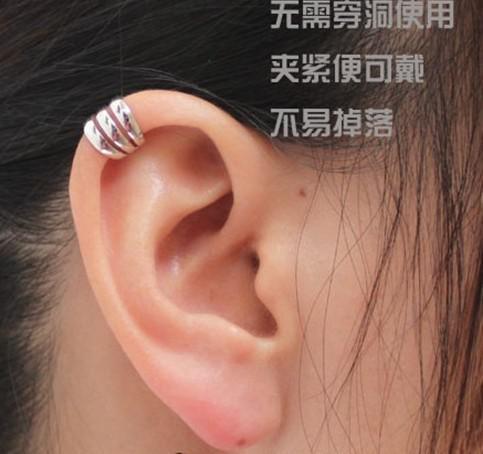 실버 컬러 펑크 귀걸이 패션 유니섹스 귀걸이 커프 소재 구리 LM - C107