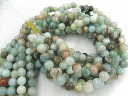 "Wholesale Loose String Beads - Natural Amazonite 6mm Round Beads Gemstone DIY Round Loose Beads 16"" per string Free Shipping"