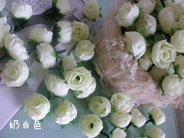노랑 200p 3cm 인공 시뮬레이션 실크 동백 장미 꽃 웨딩 크리스마스 파티 장식