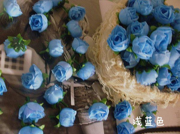 結婚式のクリスマスパーティーの花の装飾のための200ピーキー3cm人工シミュレーションのバラの花の頭の絹の椿のバラの花の花の装飾