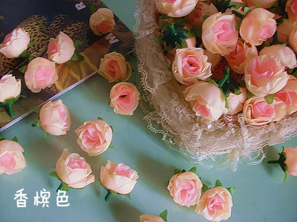 3 cm Simulação Artificial Subiu Cabeças de Flor de Camélia De Seda Rose Flor para Festa de Natal Do Casamento Decorações Florais