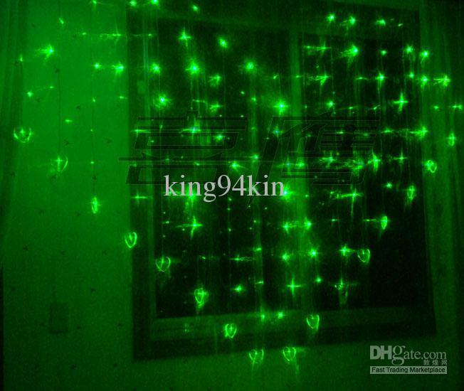 124 lumières LED 2M * 1,5 m rideau de forme coeur rideau clignotant de noël ornement fée lumière de mariage 8Couleur étanche à LED lumière lumière