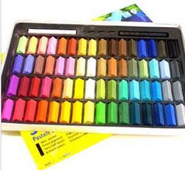 Wholesale Hair Dye Chalk Set - 64colors set Temporary Hair Color Dye Pastel Chalk Bug Rub Chalk Color Hair 27mm*8mm