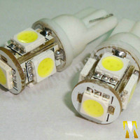 Wholesale 194 Amber Smd - 10* T10 5SMD 5LED 5050 Car Side Wedge Tail Light Bulb SMD Bulbs Side Car LED Light 194 168 W5W 147 152 161 168 Wedge color can mix order