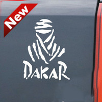 30PCS / LOT Vente en gros Vinyle DAKAR Cool voiture Autocollants 24 * 14cm Race Car Bumper Sticker