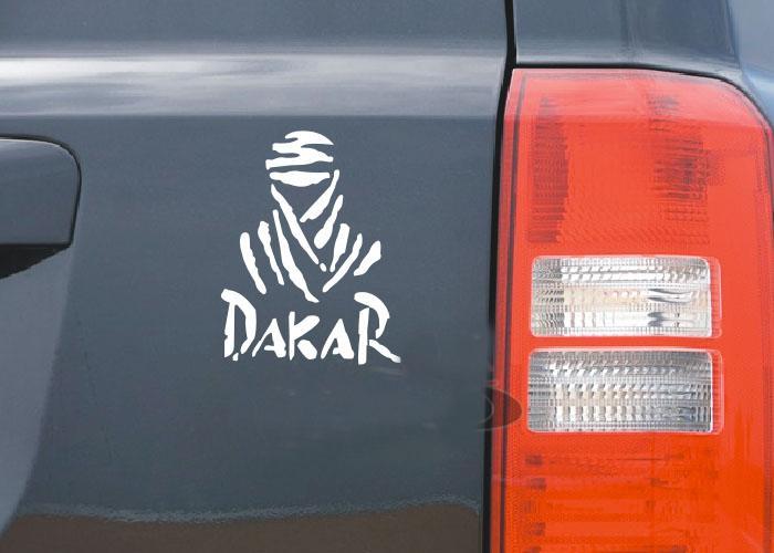Wholesale Cheap Vinyl DAKAR Cool Car Stickers Decals 24*14cm Race Car  Bumper Sticker