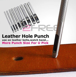 Wholesale Steel Drilling Machines - New men and women leather perforated belt pads hollow hole steel punch machining tool