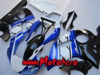 kit de carenado yamaha r6 azul al por mayor-Carenados para YAMAHA YZF R6 1998 1999 2001 2002 YZF-R6 YZFR6 600 98 99 00 01 02 2001 2002 YZFR6 98-02 kit de carenado ABS azul 7 Regalos r4636