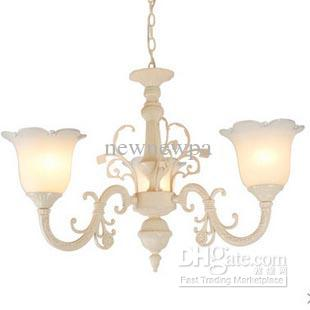 Antique white chandelier 3 e27 led lights vintage art glass link antique white chandelier 3 e27 led lights vintage art glass link rustic lighting lamps ceiling light shades pendant light shades from newnewpa aloadofball Images