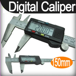 "Wholesale Digital Mm Gauges - Free shipping+Tracking Number New 150 mm 6"" Digital CALIPER VERNIER GAUGE MICROMETER LCD"