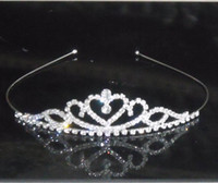 Wholesale Rhinestone Mini Tiara - Baby girls Headbands mini tiaras jewelry Manufacturer supply 10pcs lot S-HG914