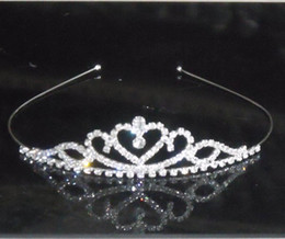 Wholesale Mini Tiara Headband - Baby girls Headbands mini tiaras jewelry Manufacturer supply 10pcs lot S-HG914