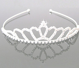 Wholesale Headdress Hair - jewelry rhinestones Hair hoop crown Headdress Manufacturer supply 6pcs Free Shipping S-HG920