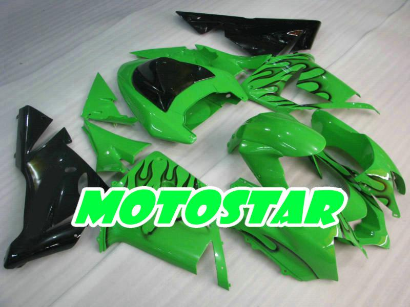 black flame parts for KAWASAKI Ninja ZX-10R 04 05 ZX 10R 2004 2005 ZX10R Full Fairing Kit & 2 gifts