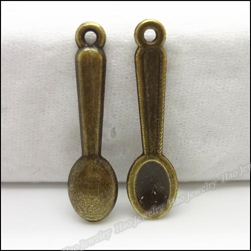 Mix antique bronze spoon fork pendant zinc alloy jewelry accessories fashion Craft Findings 600pcs
