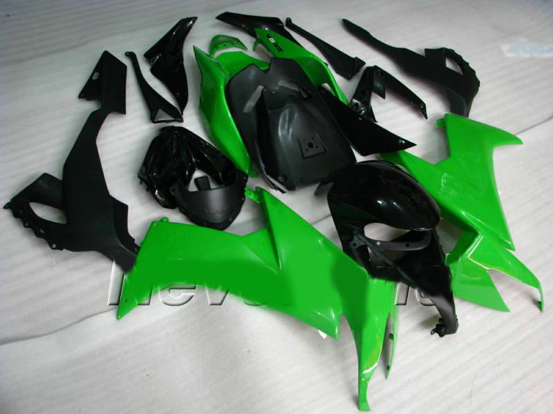 green black body parts for KAWASAKI Ninja ZX-10R 08 09 ZX 10R 2008 2009 ZX10R full fairing kit