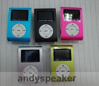 Wholesale 1gb Metal Clip Mp3 Player - freeshipping-10pcs Clip MP3 Player with Screen card slot Metal Body support 1GB 2GB 4GB 8GB TF Card