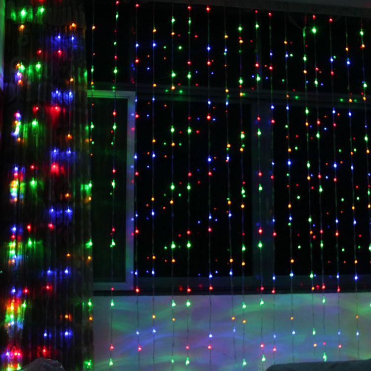 digital led curtain light 8m4m1024 led lightslampions wedding christmas ornament lightsdecoration waterproof led light strip lighting - Digital Christmas Lights