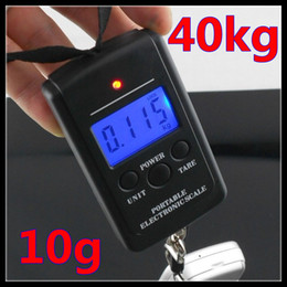 Wholesale Digital Portable Travel - New hot sale good quality 10g-40kg Mini Digital Hanging Scale Portable Travel Lage Weight Scale+Blue Light 2pcs