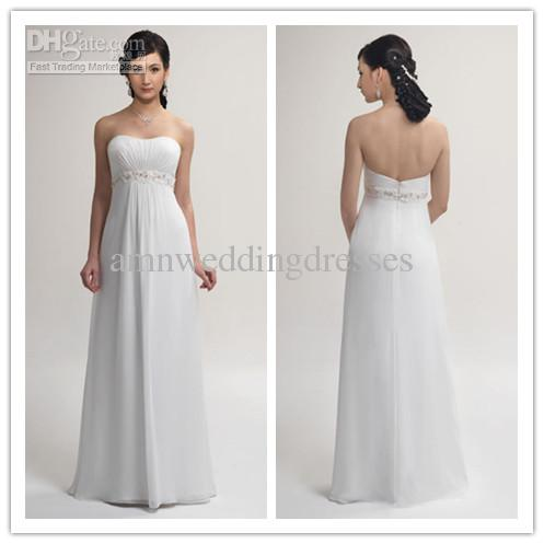 77bab4bad5ab Discount Summer Crisp Strapless White A Line Beaded Maternity Wedding  Dresses Bridal Gowns MW0804019 Red Wedding Dresses Sexy Wedding Dress From  ...