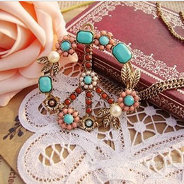 Wholesale Peace Jewellery - Diamond necklace Unisex necklace Peace chain Fashion Jewellery 20pcs lot free shipping