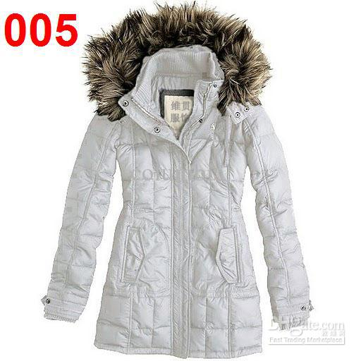 2018 New Women'S White Down Coat Jacket Winter Parka Fur Hooded ...