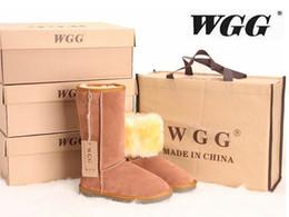 Botas de senhoras de Design Cassic Botas de Inverno de neve de botas de mulher cinza Chocolate areia cinza Chestnut Boot de