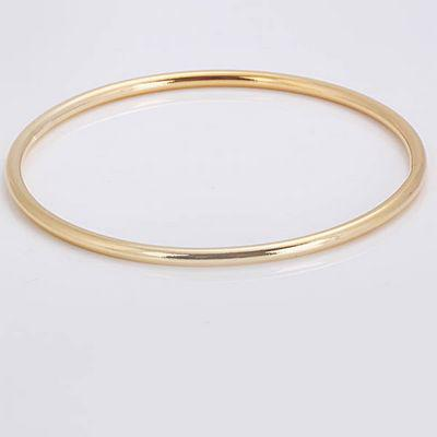 B136 925 Silver 3mm Golden Bangle/Bracelet , Elegant Good Selling Smooth Cuff Bangle