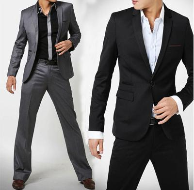 2017 Hot Sale New Men's Slim Suit Hot Sales Two Piece Set Jacket   ...