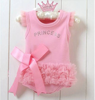 Wholesale Lace Pink Romper - Wholesale - Baby Triangular romper   climb clothes   Dresses   Lace Panties Triangle jumpsuit 6pcs