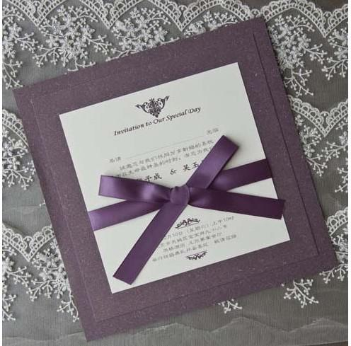 Purple Invitation Card Wedding Invitations Cards 100pcs Lot