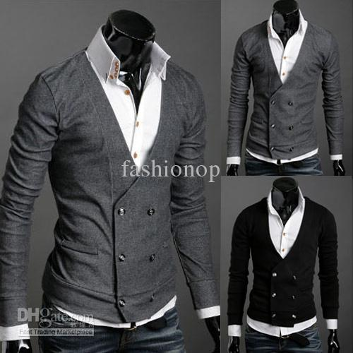 2018 2015 Fashion Men Blazer Jacket Men Cardigan Sweater Jacket ...
