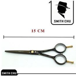 Wholesale Smith Chu Scissors - Hair cut scissors 5.5 INCH Left-handed and right-handed cutting scissors Black SMITH CHU HM75-55 NEW