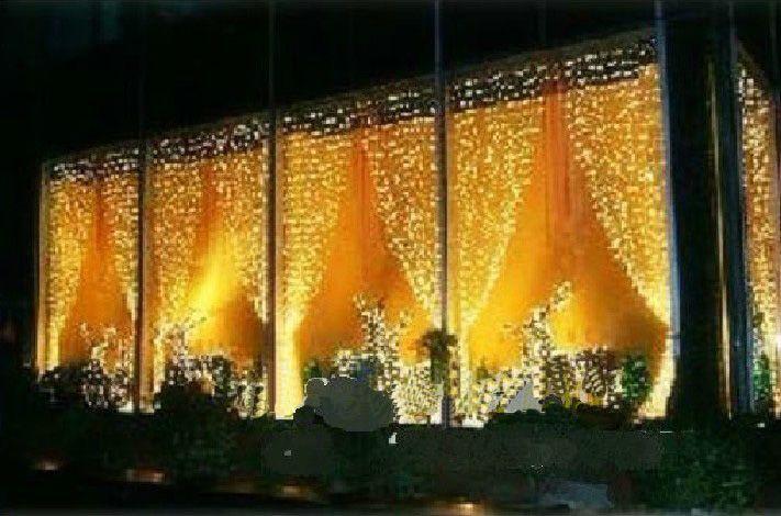 Warm White Curtain Lights String Led Light String Hotel Decoration ...