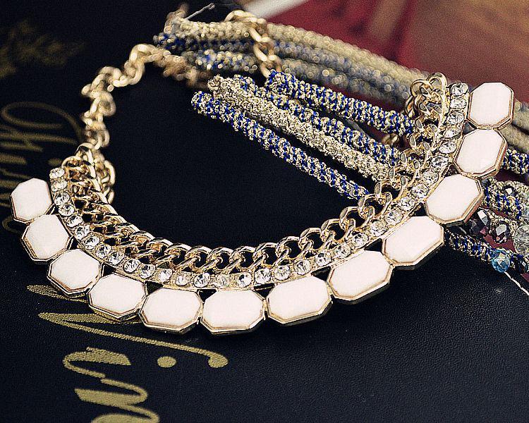 vivi krage halsband lyxiga diamant halsband vävda