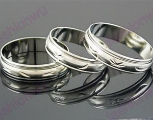 Wholesale 100pcs lot MIX Size 5MM Wide Metal Color Spin Spinning Arc Copper Transport Ring Rings Band Rings