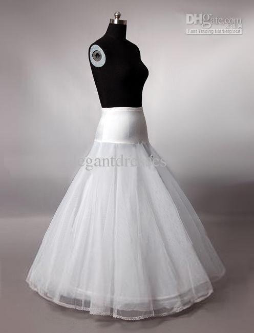 Snelle levering! Goed ontwerp A-lijn vloer lengte petticoat PE003
