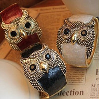 Bangle owl jewelry free shipping - Wild bracelet Retro bracelet Owl bracelets fashion jewelry factory price