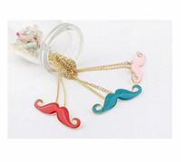 Wholesale Candy Colored Necklace - Candy Colored Beard Necklaces Drip Pendants
