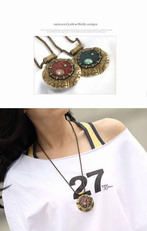 Edelstein-Halsketten-Kreis-Marken-Anhänger