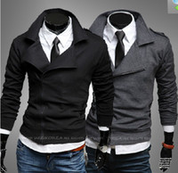 Wholesale Slim Large Lapel Coat - 2320# New HOT Men's Large lapel Multi-zipper Slim Leisure Hoodies & Sweatshirts Jacket Coat