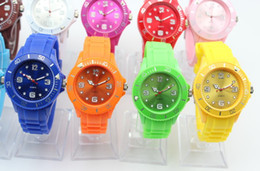 Wholesale First Silicone - Luxury Sport LED Digital Lady Men Watch Fashion Watches Silicone Soft Watch mix color first water