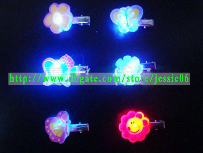 Mode LED flash Magic Hair Clip Light-Up HairClips changer les couleurs bandeau hairand broche bijoux