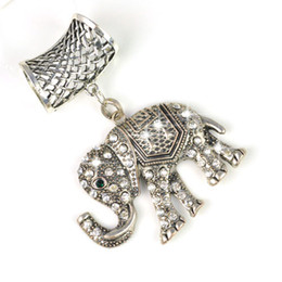 Wholesale Scarf Stoned - Scarves accessories pendants jewelry set-india elephant with stones 12pcs lot,PT-628