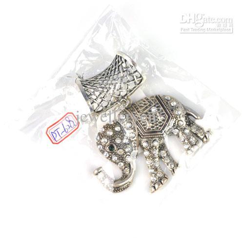 Elefant Anhänger Legierung Charms Schmuck Schal Anhänger mit Strass Charms Top Wholesales, PT-628